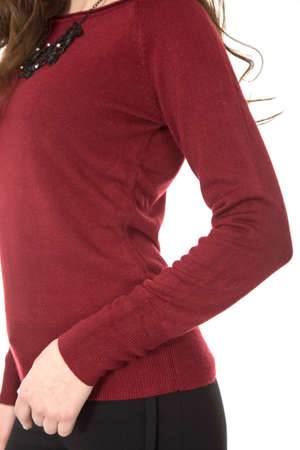 Sweater shooting detail Zdjęcie Seryjne