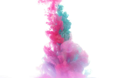 Ink in water abstract background Stock Photo