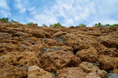 Stone wall and sky background Stok Fotoğraf - 126798375
