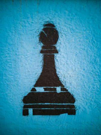 Chess game graffiti