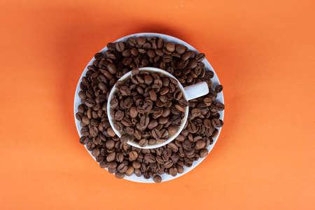 Coffee bean and coffee mug