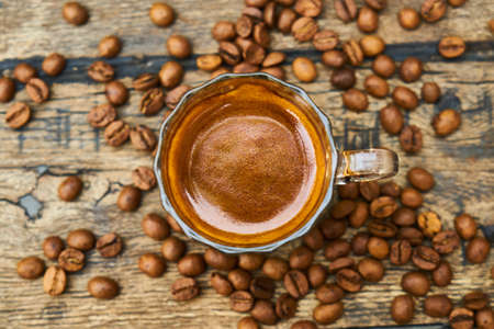 Espresso coffee and coffee beans