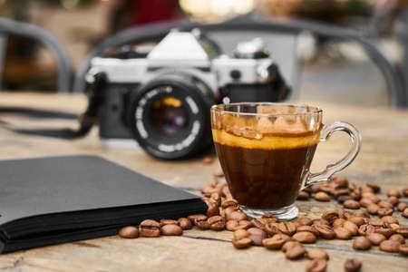a photographers coffee break 写真素材