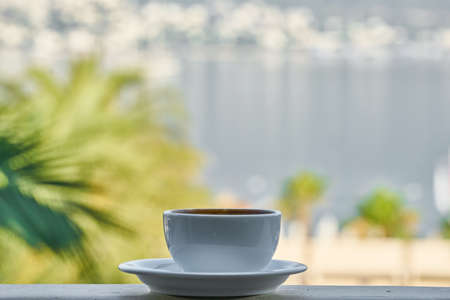 cup of coffee and landscape