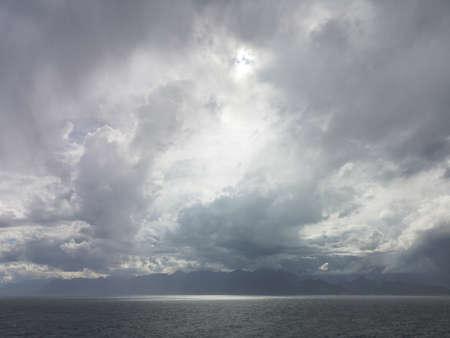 stormy weather and dark sea waves Stok Fotoğraf