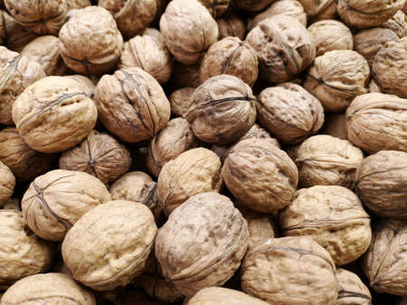 healthy walnuts at the market Stok Fotoğraf