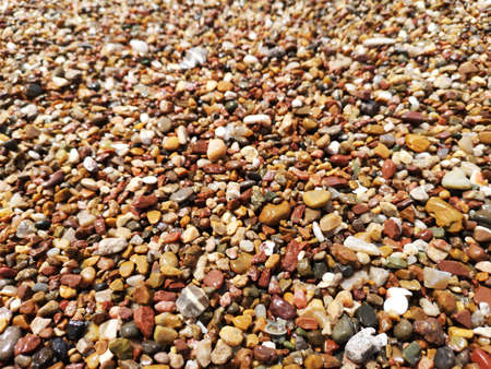 pebbles beach close up and background
