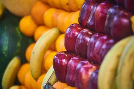 tropical fruits at the Asia market Stok Fotoğraf