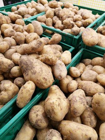 healthy patato at the market