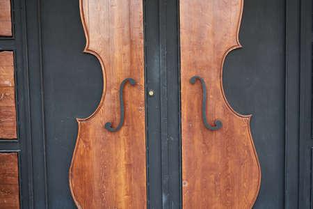 wooden old door and knocker