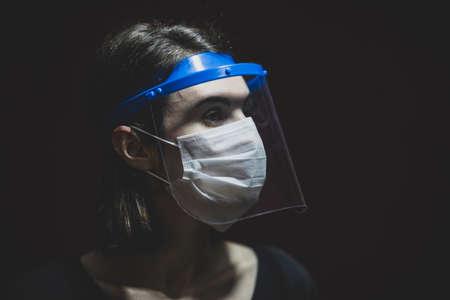 a woman in coronavirus quarantine