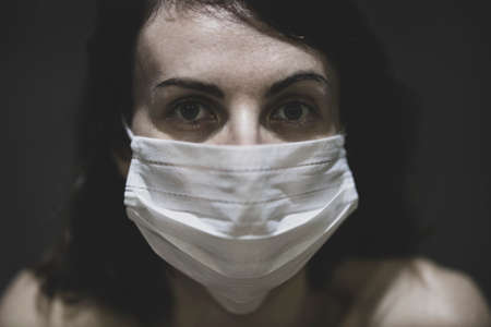 coronavirus mask and woman portrait