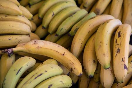 fresh and delicious bananas at the market