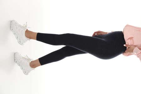 women tights shoot in studio