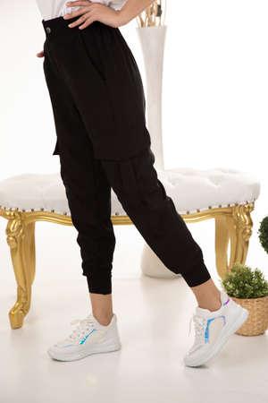 women pants shoot in studio Zdjęcie Seryjne