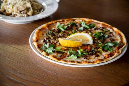 Delicious freshly baked italian pizza Stock fotó - 155450340