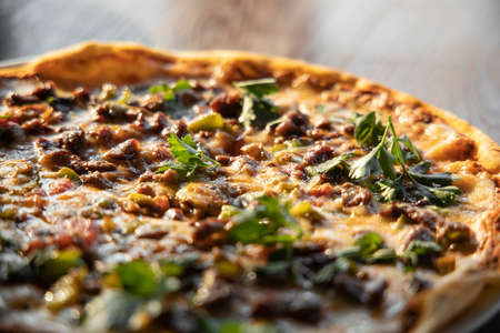 Delicious freshly baked italian pizza Stock fotó - 155450263