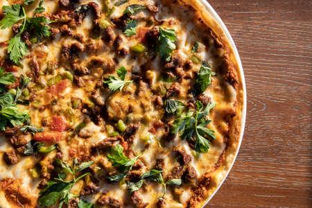 Delicious freshly baked italian pizza Stock fotó - 155450386
