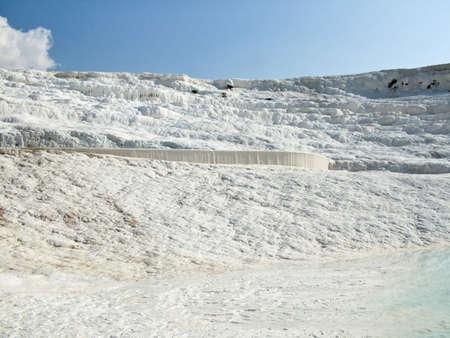 pamukkale: Calcium-limestone surface in Pamukkale (Turkey).