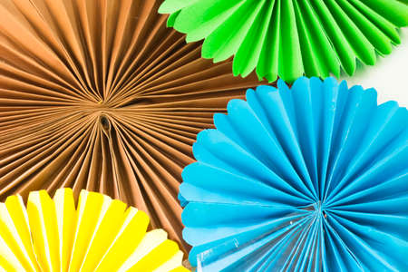 torn edge: Art of colored paper.Or Origami and idea of art and crafts.
