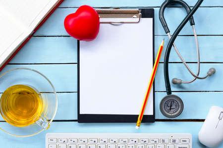 electrocardiograma: Concepto de salud o salud de fondo. Vista superior