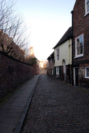 Cobbled old Street in York Stock Photo - 12074883