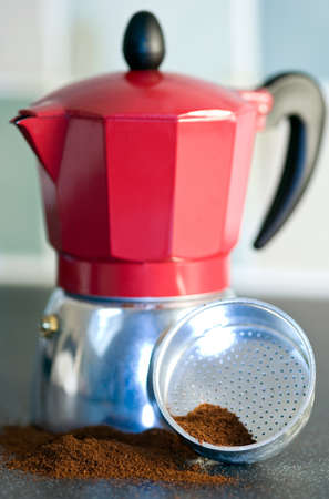 with coffee maker: Coffee Maker Stock Photo
