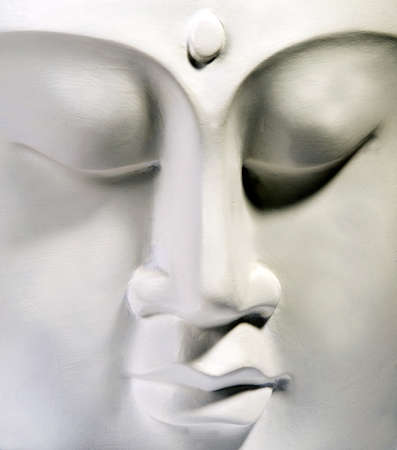 The tranquil face of Buddah photo