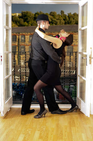 Two Tango Dancers In Buenos Aires, Argentina photo