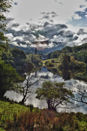 View of the lake District  HDR  photo