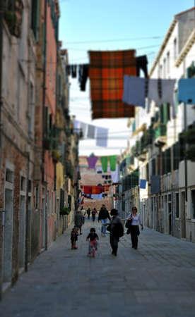 a typical picturesque scene of Venice, a very popular tourist destination