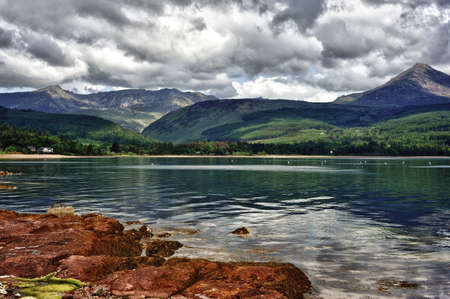 Scenery of the Isle of Arran in Scotland Stock Photo