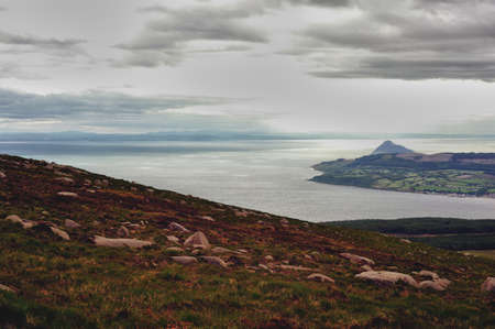 A view over the Isle of Arran in Scotland photo