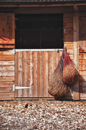 horse stable: Wooden Stable Doors Stock Photo