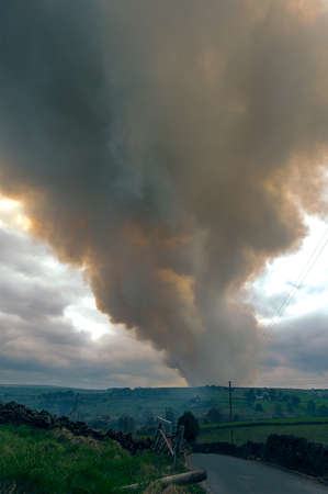 moorland: Large Moorland Fire Stock Photo