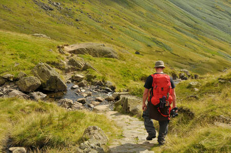 Male hiker enjoying the great outdoors of the lake district, United Kingdom