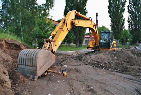 industrie: excavator Stock Photo