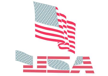 US flag Stock Vector - 3810496