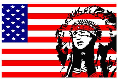 indio americano: Indico nativo Vectores