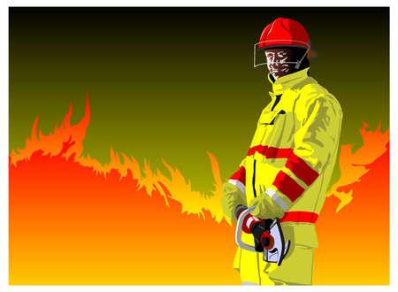 idraulico: pompiere tagliatori Vettoriali