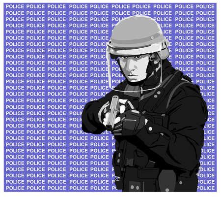 cop-police Stock Vector - 4054949
