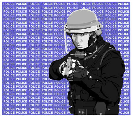 cop-police Illustration