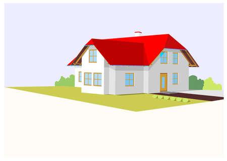 huis 2 Stock Illustratie