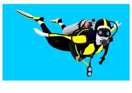 scuba diver Stock Vector - 4125973