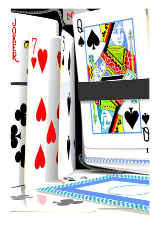 playing cards-still life Vector