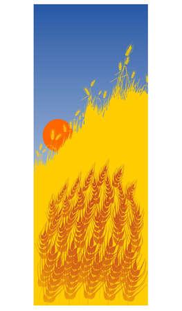 granary: campo di grano Vettoriali