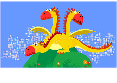 fairy flying dragon Stock Vector - 4313897