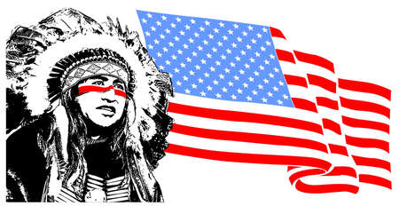 american history: native Illustration
