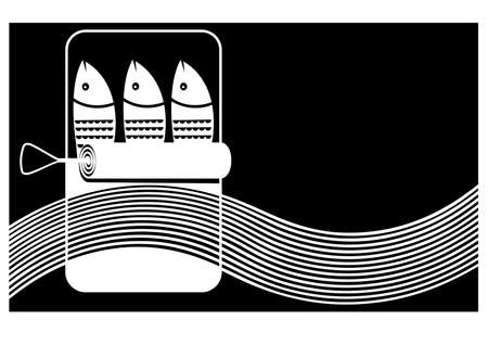 sardine sign Vector