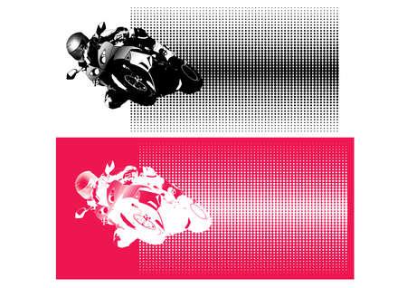 オートバイのスポーツ  イラスト・ベクター素材